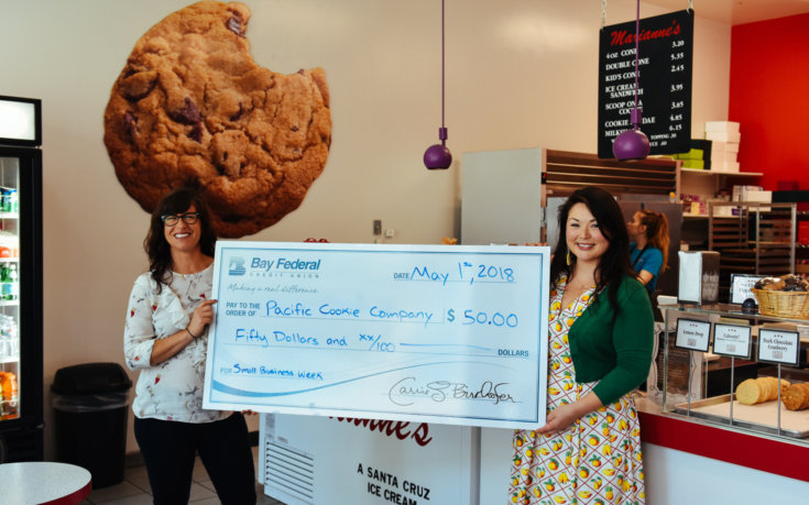 Bay Fed and a Big Check Help Us Celebrate Small Business Week!